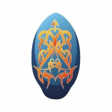 Skimboard tribal blauw oranje 100cm