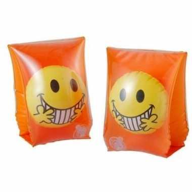 Smiley zwembandjes oranje voor kinderen