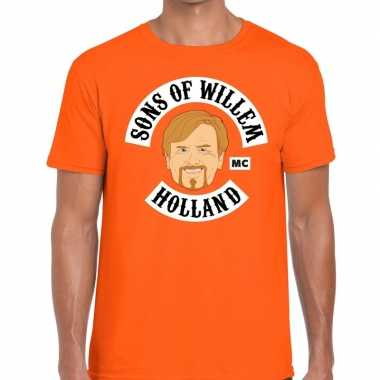 Sons of willem t-shirt oranje heren