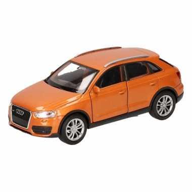 Speelgoed audi q3 oranje autootje 12 cm