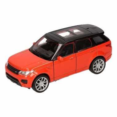 Speelgoed land rover sport oranje welly autootje 1:36