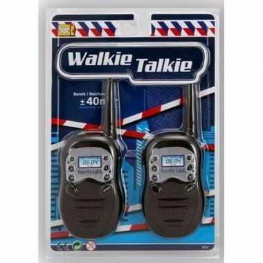 Speelgoed oranje/witte walkie talkie bereik 100 meter