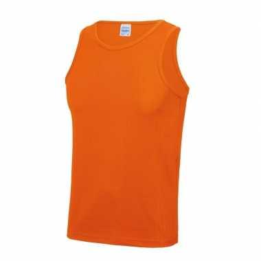 Sportkleding sneldrogend oranje voor heren