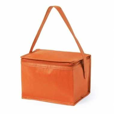 Strand sixpack mini koeltasje oranje