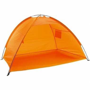 Strandtentje oranje met open voorkant