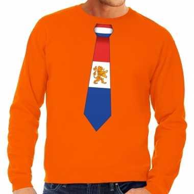 Stropdas holland sweater oranje heren