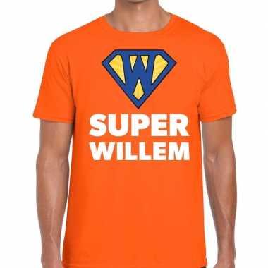 Super willem t-shirt oranje heren