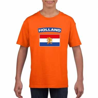 T-shirt hollandse vlag oranje kinderen