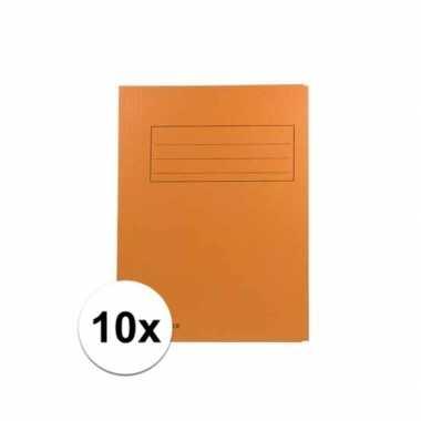 Tekeningen opbergmappen oranje 10 stuks