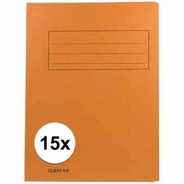 Tekeningen opbergmappen oranje 15 stuks