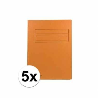 Tekeningen opbergmappen oranje 5 stuks