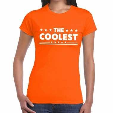 The coolest fun t-shirt oranje voor dames