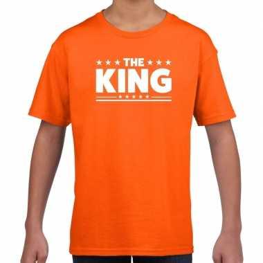 The king fun t-shirt oranje voor kids