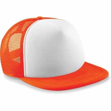 Trendy snapback pet oranje