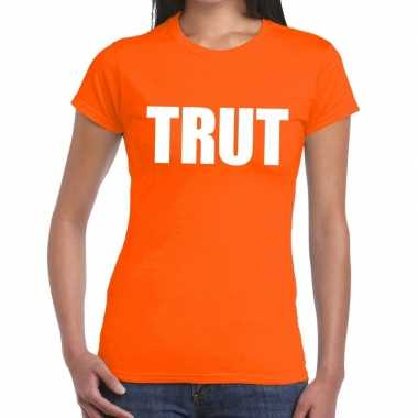Trut fun t-shirt oranje voor dames