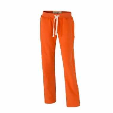 Vintage joggingbroek oranje voor dames