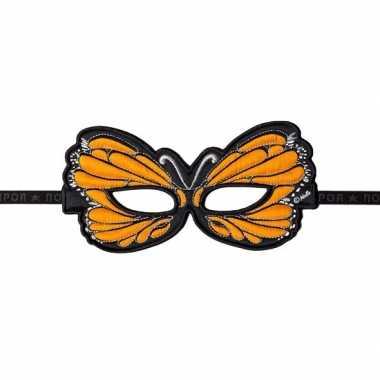 Vlinder oogmasker oranje