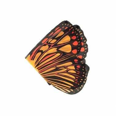 Vlinder verkleed vleugels voor kids oranje