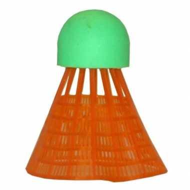 Voordelige badminton reserve shuttles oranje 6 stuks