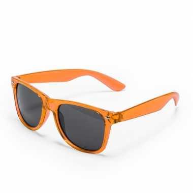 Voordelige oranje verkleed zonnebril