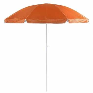 Voordelige strandparasol oranje 200 cm diameter