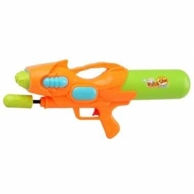 Watergeweer met pomp oranje/groen 47 cm