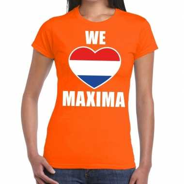 We love maxima shirt oranje dames