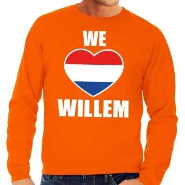 We love willem sweater oranje heren