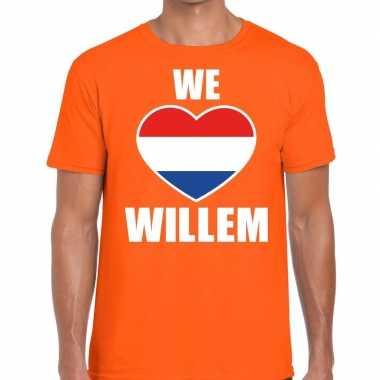 We love willem t-shirt oranje heren