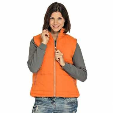 Winddichte bodywarmers oranje voor dames