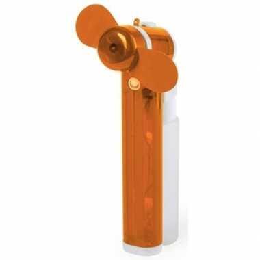 Zak ventilator oranje met water verstuiver