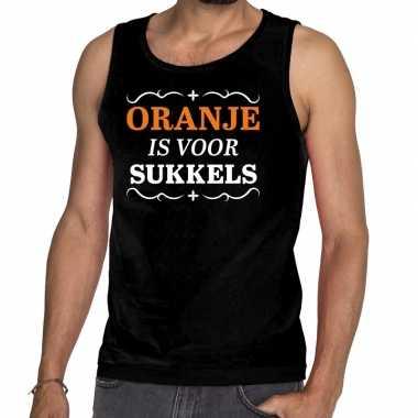 Zwart oranje is voor sukkels tanktop heren