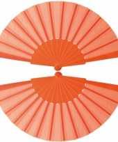 10x stuks oranje handwaaiers 23 cm