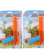10x waterpistool waterpistolen oranje 18 cm
