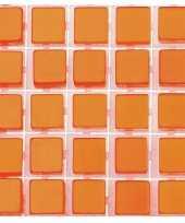 119x stuks mozaieken maken steentjes tegels kleur oranje 5 x 5 x 2 mm