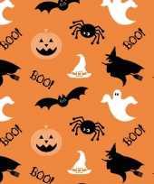 20x halloween thema servetten spook heks pompoen 33 x 33 cm oranje
