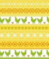 20x paasdecoratie servetten 33 x 33 cm geel oranje groen met kippen print