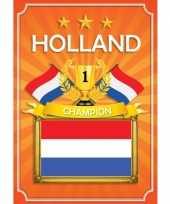 3x deurposter holland oranje ek wk