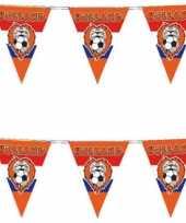 3x stuks oranje vlaggenlijn voetbal leeuw 10 meter