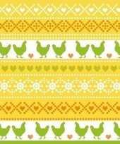 40x paasdecoratie servetten 33 x 33 cm geel oranje groen met kippen print