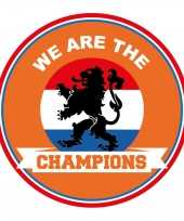 45x stuks oranje nederland supporter bierviltjes ek wk voetbal we are the champions