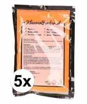 5x holi poeder oranje 100 gram