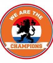 60x stuks oranje nederland supporter bierviltjes ek wk voetbal we are the champions