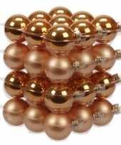 72x oranje glazen kerstballen 4 cm mat glans