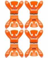 8x feestversiering ophangen klemmen oranje