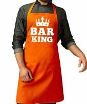 Bar king keuken schort oranje heren