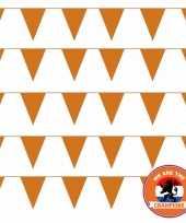 Ek wk koningsdag oranje versiering pakket met oa 100 meter xl oranje vlaggenlijnen vlaggetjes