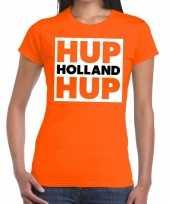 Ek wk supporter t-shirt hup holland hup oranje voor heren
