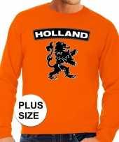 Grote maten hollandse leeuw supporter trui oranje heren