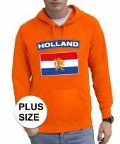 Grote maten hollandse vlag supporter trui oranje heren